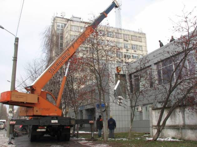 Монтаж небольшой накрышной установки, 2008