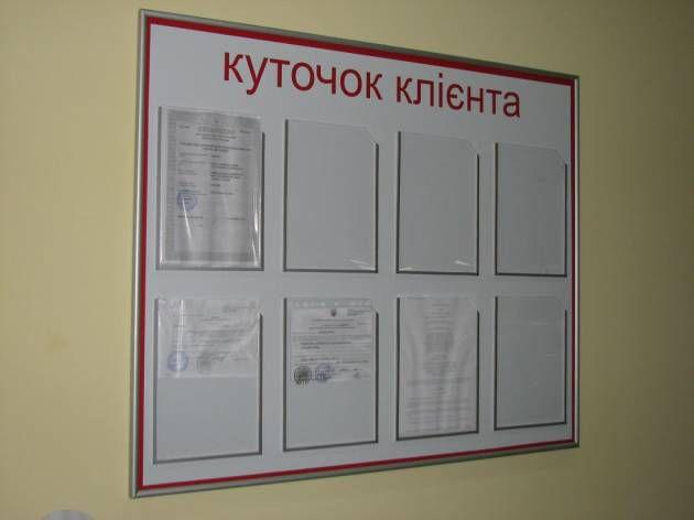 Стандартный уголок покупателя, 2009