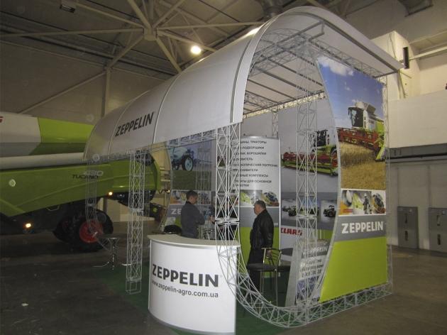 Выставочный стенд из ферм с крышей, 2012