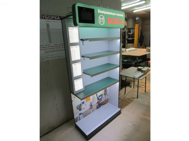 Торговая стойка с ЖК-монитором и подсветкой, 2013