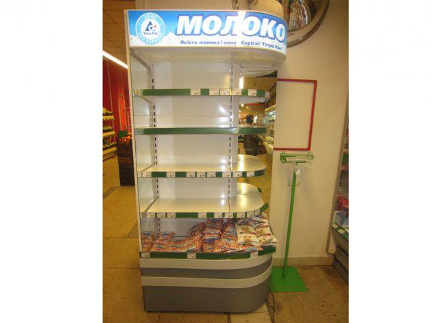 Торговая стойка под молочную продукцию, 2014