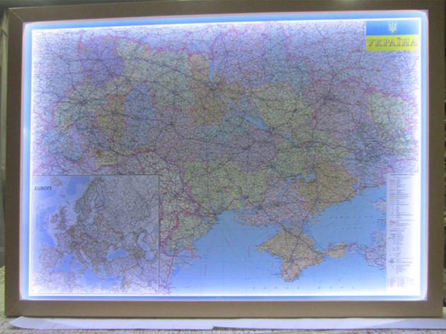 Карта настенная с подсветкой, 2015