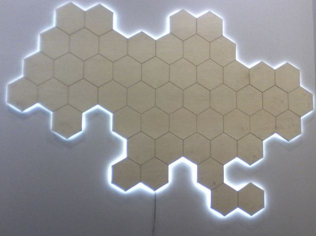 Настенная карта из фанеры, 2015