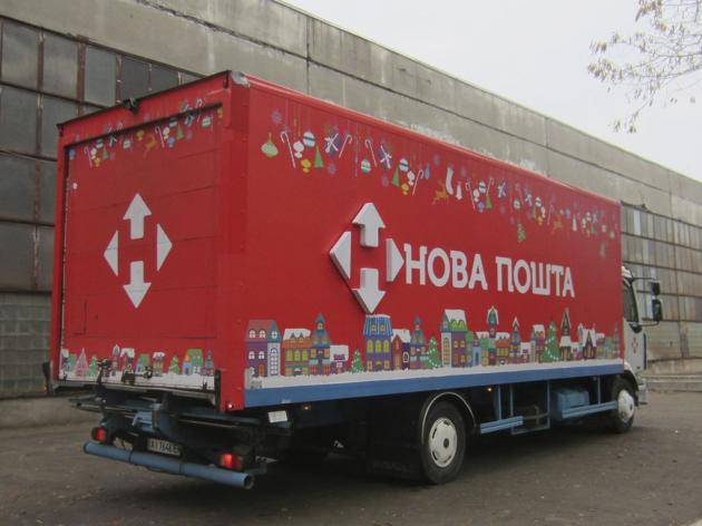 Оклейка грузового автомобиля пленкой, 2015