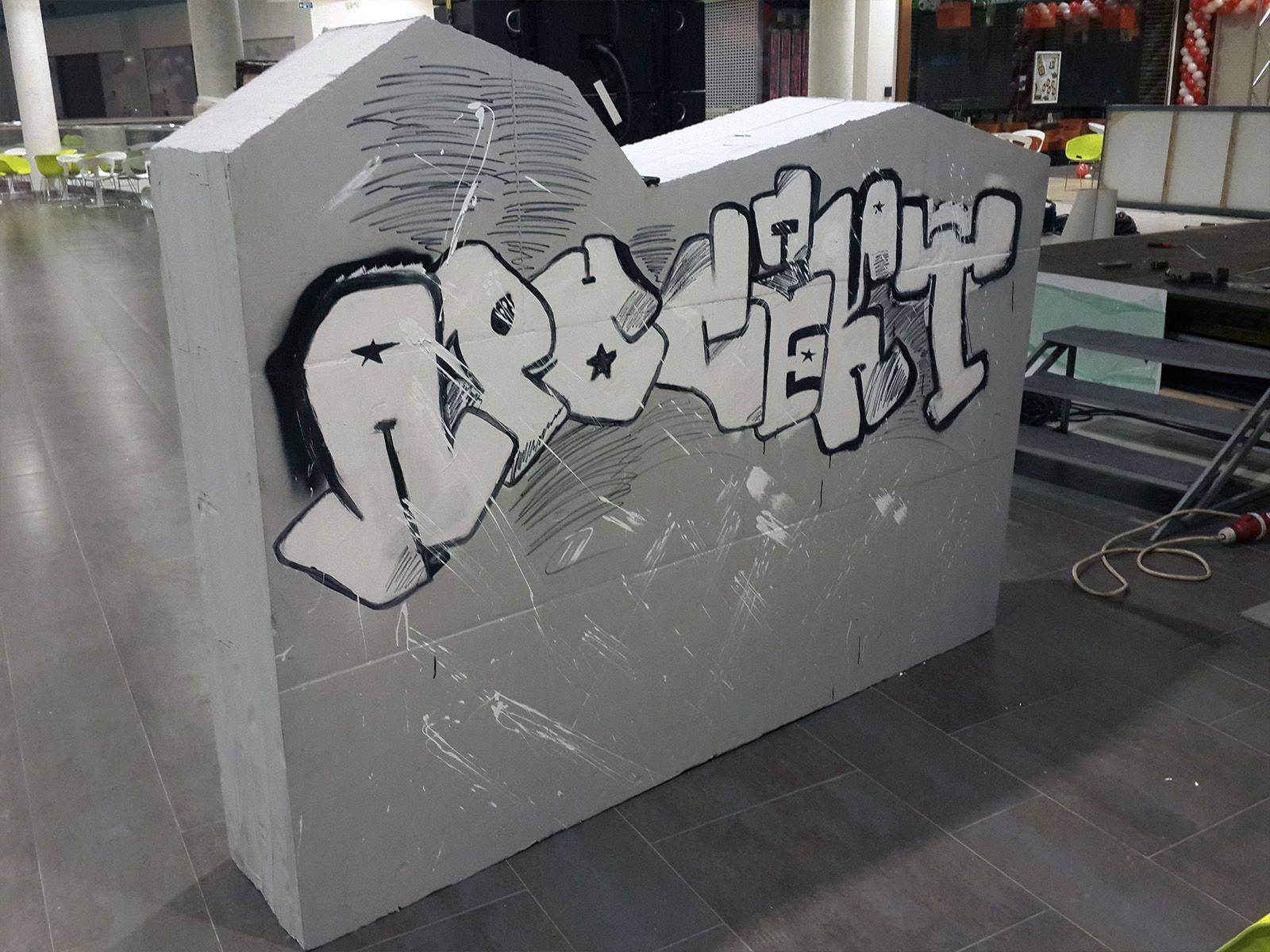 Муляж стены для граффити