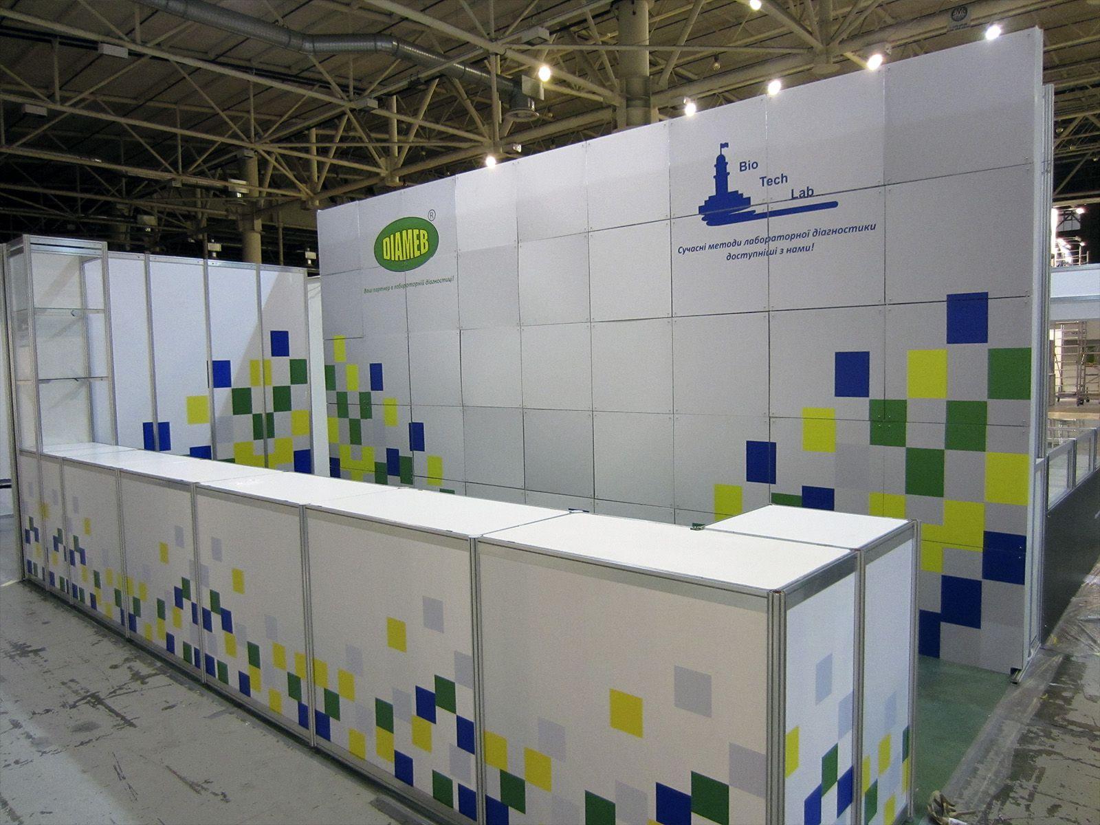 Выставочный стенд из профиля Diameb