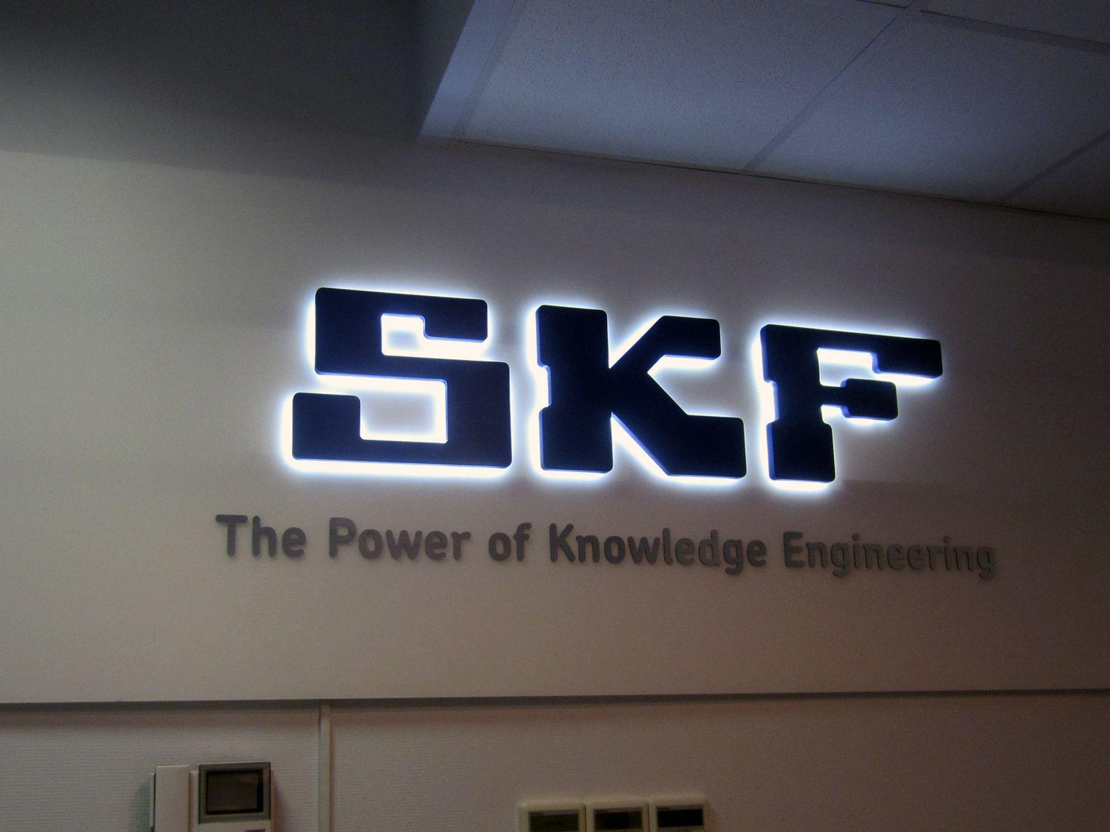 Крашеные буквы с контражурной подсветкой SKF (№356)