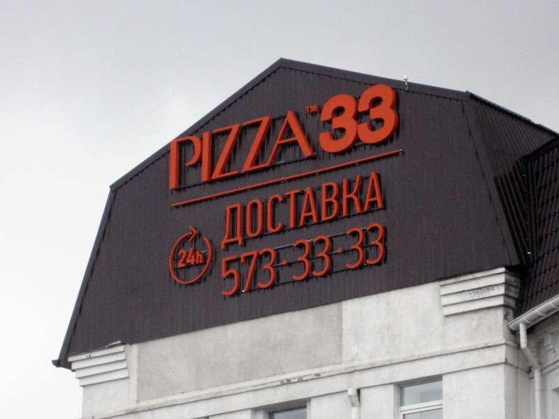 Накрышная установка рекламная Pizza 33 (№270)