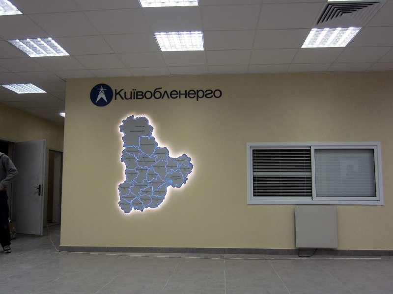 Декоративная карта в офис