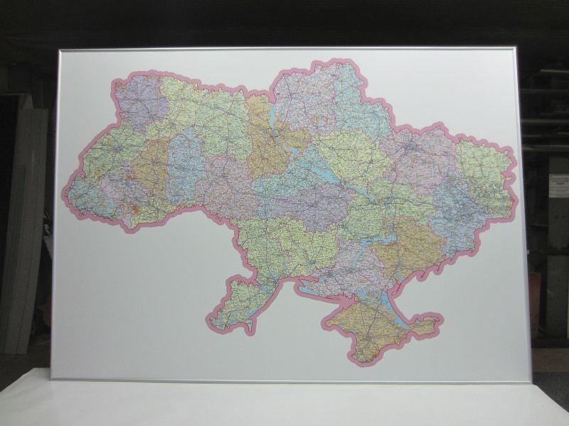 Карта Украины в рамке недорого (№672)