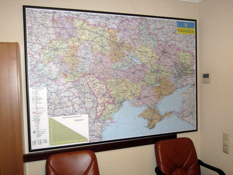 Карта Украины настенная купить (№315)