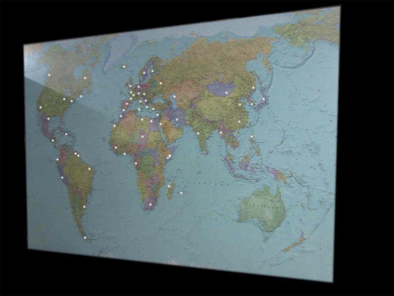 Карта мира со светодиодами наружная реклама (№455)