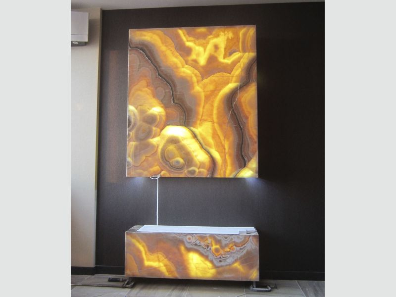 Подсветка камина светодиодами