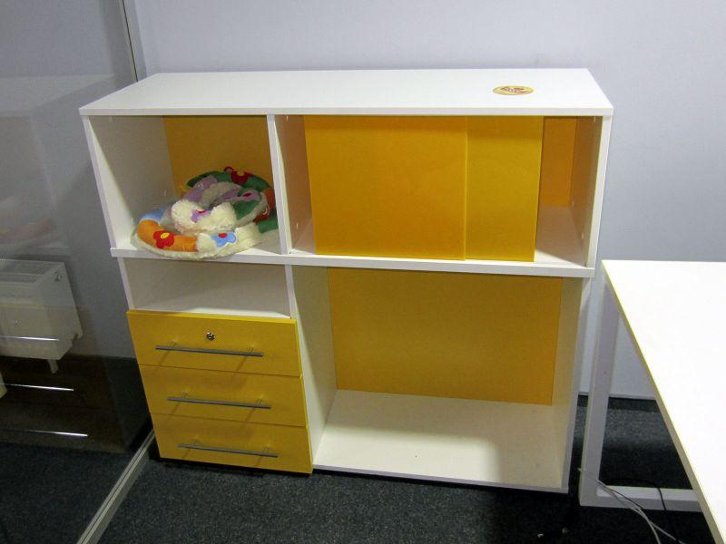 Шкаф с раздвижными дверками и ящиками (№436)