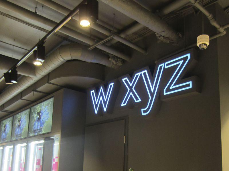 Интерьерная вывеска по низкой цене WXYZ (№1378)