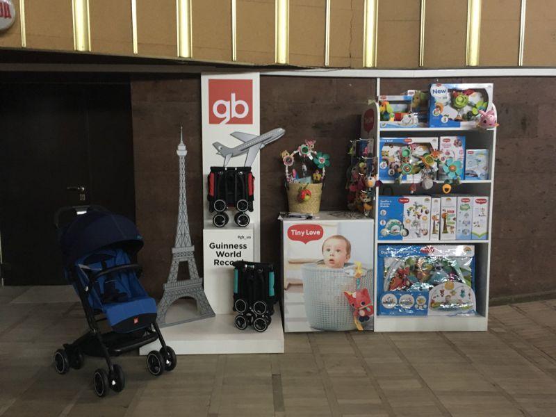 Промостенд для детских колясок заказать в Киеве изготовление стенда