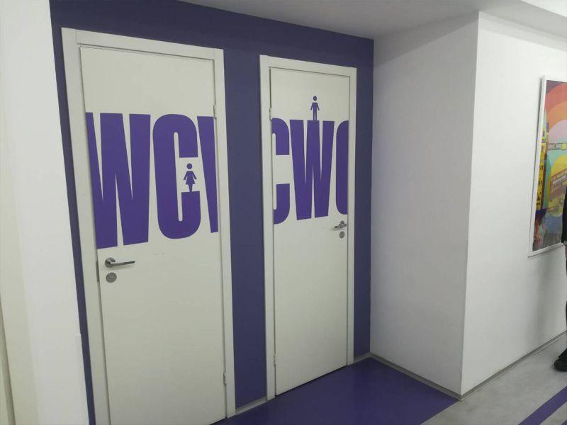 Наклейки на дверь WC (№179)