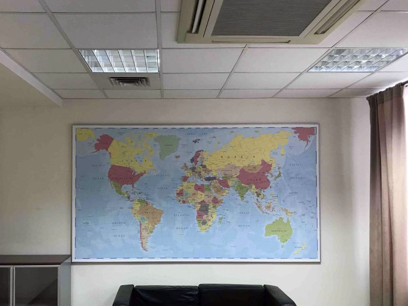 Настенная карта для офиса