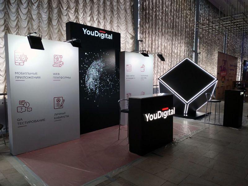 Выставочный стенд в форме куба